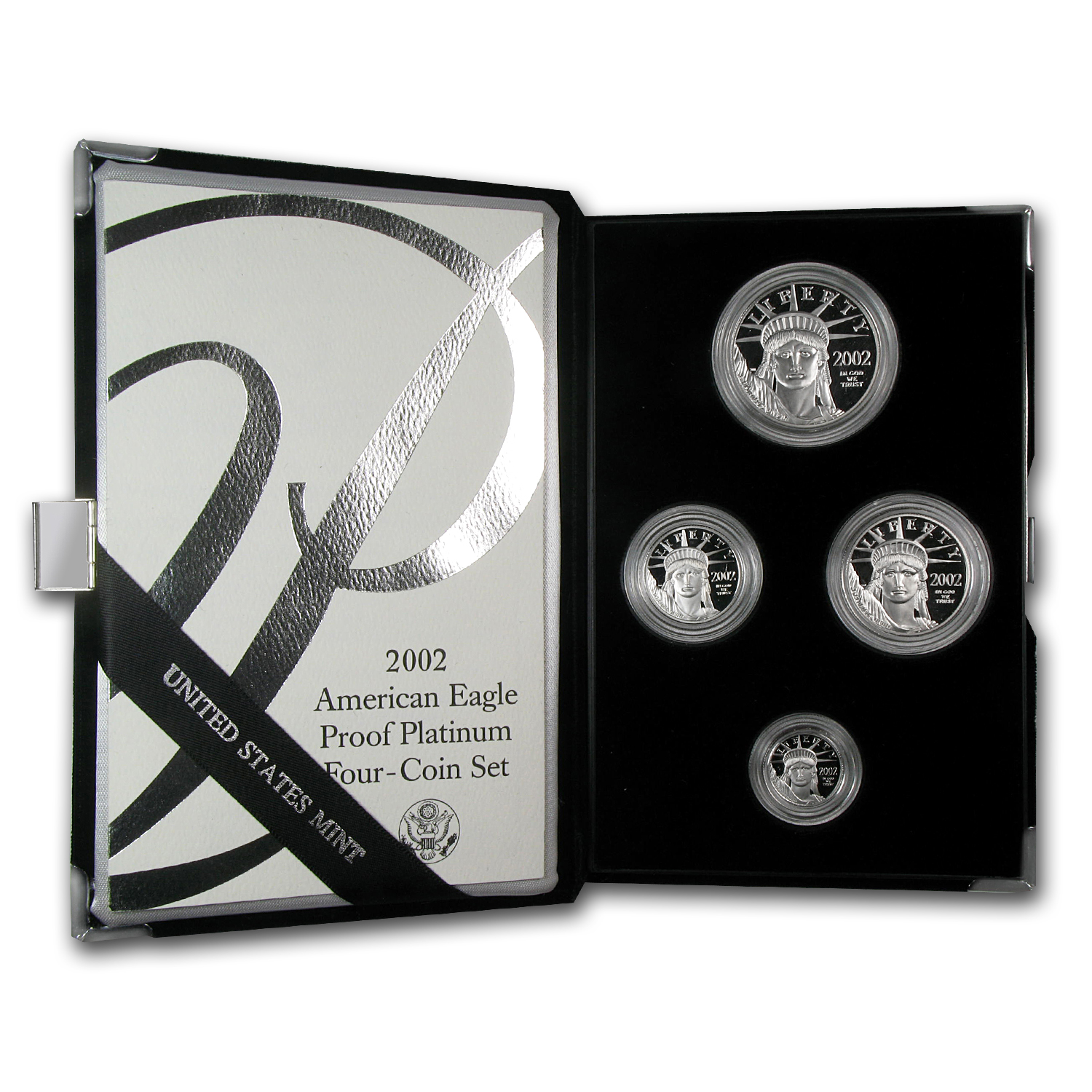 2002-W 4-Coin Proof Platinum American Eagle Set (w/Box & COA)
